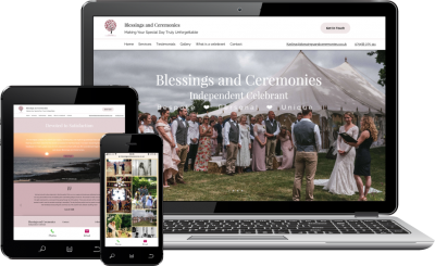 Website redesign by The Marketing Boutique for Blessings and Ceremonies
