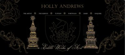 Website design for Holly Andrews by The Marketing Boutique