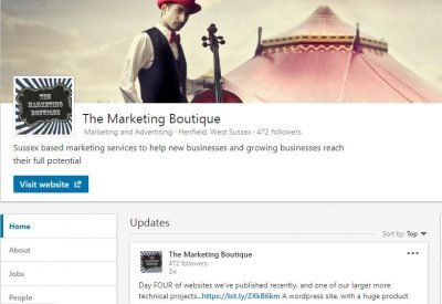 LinkedIn The Marketing Boutique Sussex