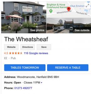 Google my business set up listing